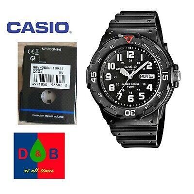 *BNIB* Casio MRW-200H-1BVES Sports Analog Day Date Black Resin Strap Watch