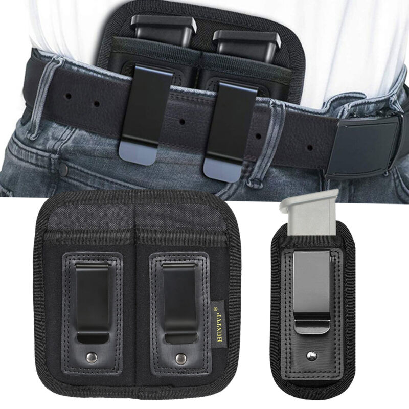 Magazine Pouch IWB Double Single Mag Holder for 9/.40/.45mm Full Size Pistol Mag