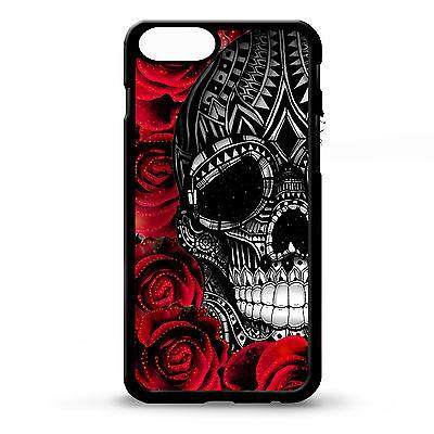 Sugar skull pretty girly floral flower rose pattern tattoo art phone case cover