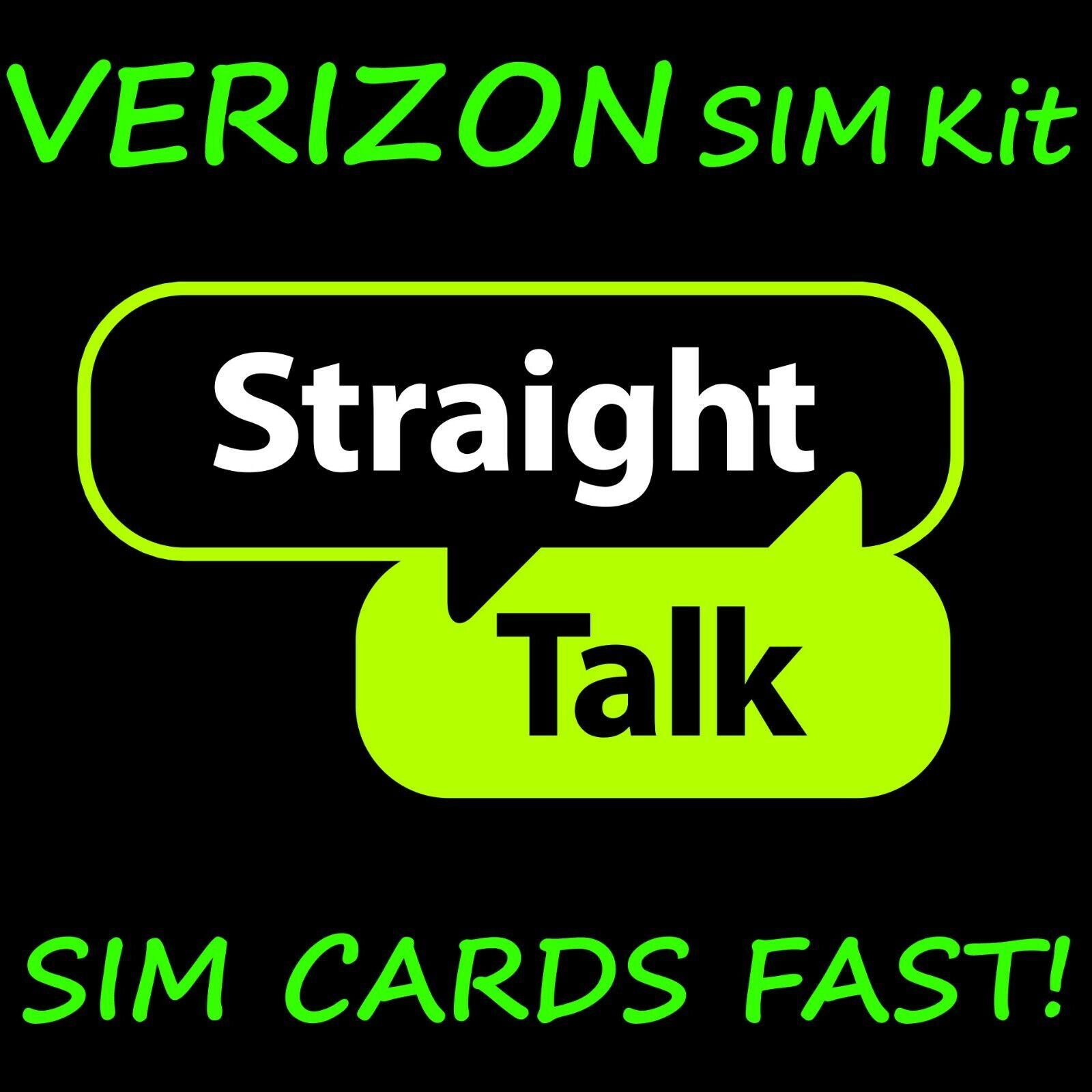 Straight Talk SIM Card For VERIZON CDMA Network Activation K
