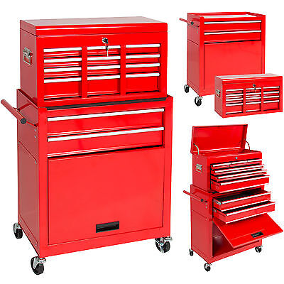Carriable Top Strongbox Rolling Tool Storage Box Chest of drawers Sliding Drawers
