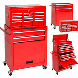 BCP Portable Top Chest Rolling Tool Storage Box Cabinet Sliding Drawers