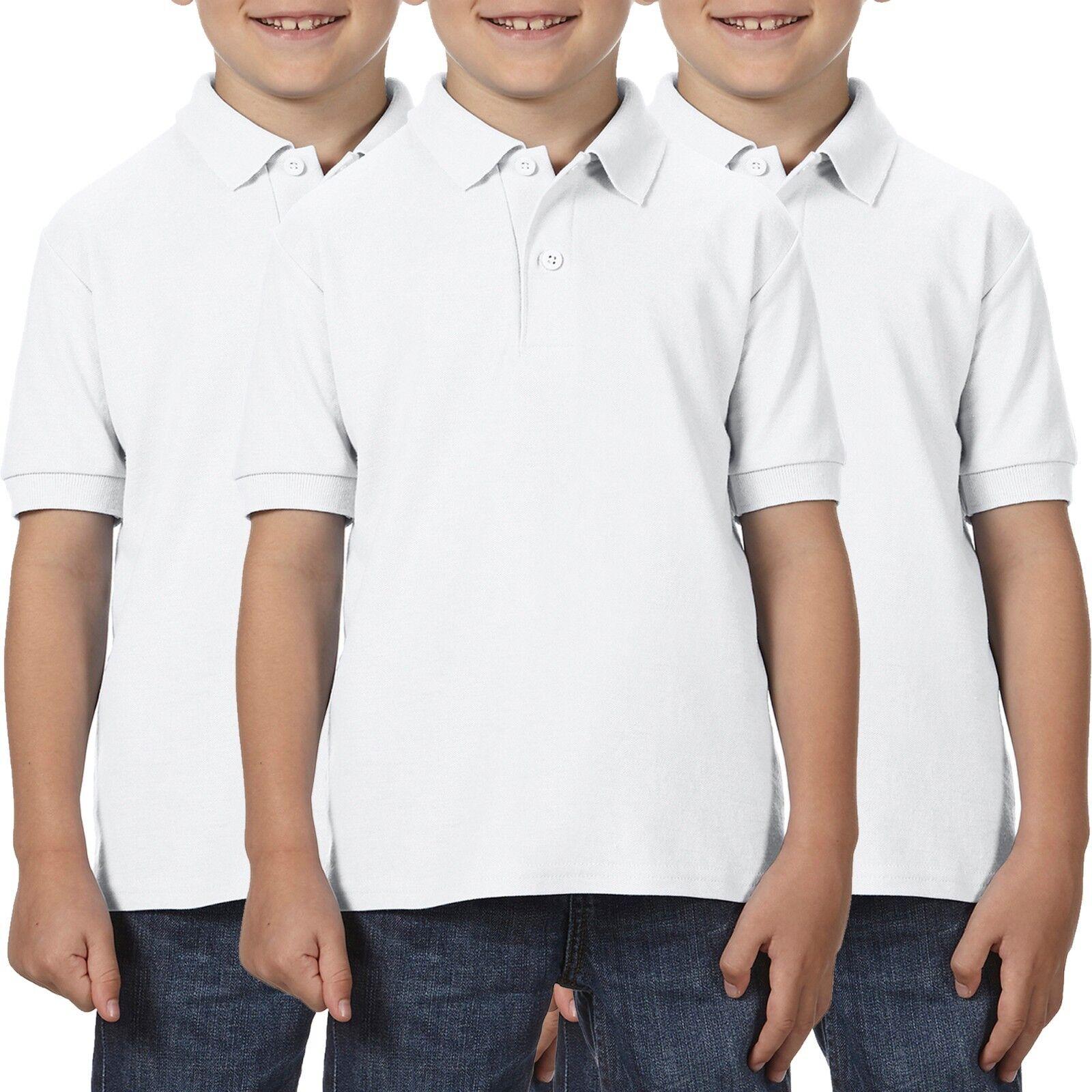 3 Pack Gildan Dry Blend Ladies Polo Shirt Work Wear Top Wholesale Plain SALE