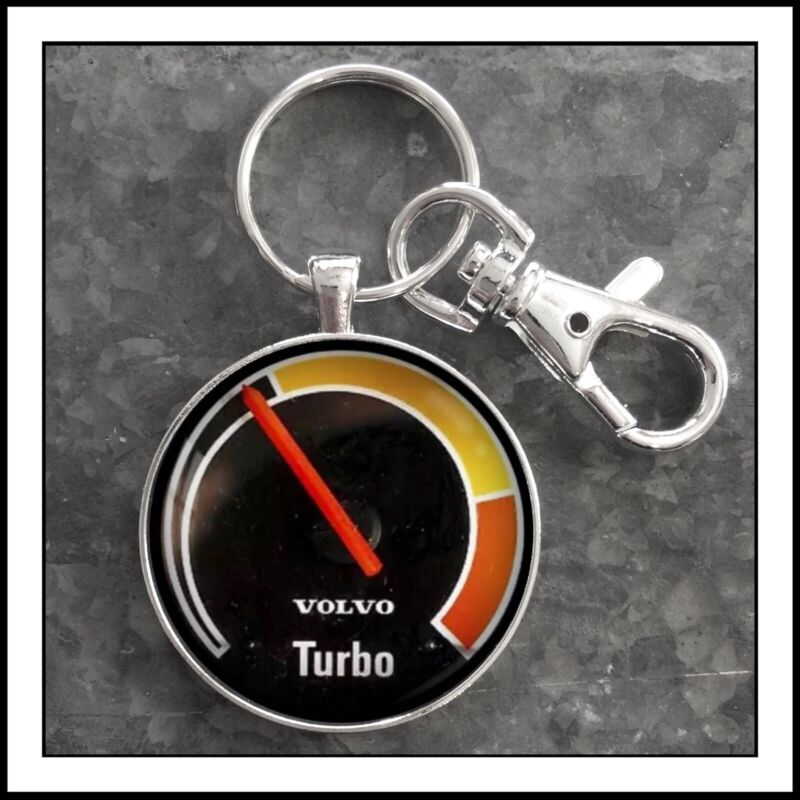 Volvo 240  Turbo Boost Gauge Photo Keychain Gift 🎁 VDO Free Shipping