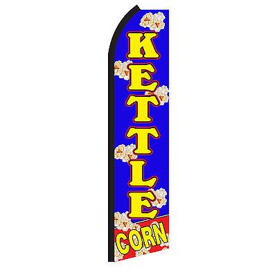 Kettle Corn Blue Yellow Swooper Flag