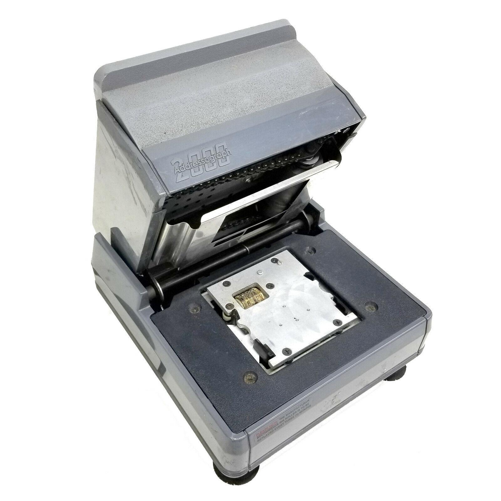 "NewBold Addressograph 2000 L/R 3"" Stroke CR80/CR50 Plastic Card Imprinter #8"