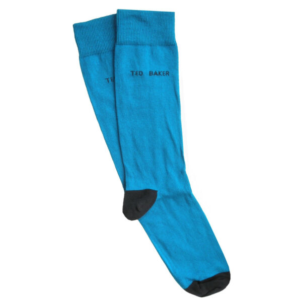 TED BAKER Mens Navy Blue Multi Striped Organic Cotton Socks /> UK 7-11 EU 41-46