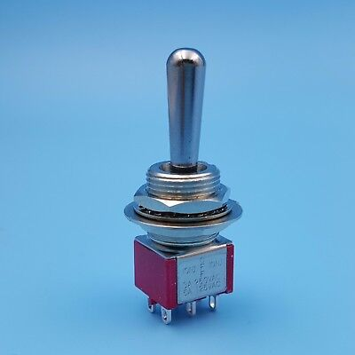 Sh T8012a-z1 Momentary Mom-off-mom 6pin Large Handle Dpdt Mini Toggle Switch