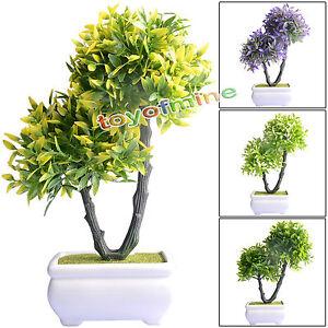 2 en 1 artificielle buis boule bonsai avec pot ivy topiaire plante arbre bonheur ebay. Black Bedroom Furniture Sets. Home Design Ideas