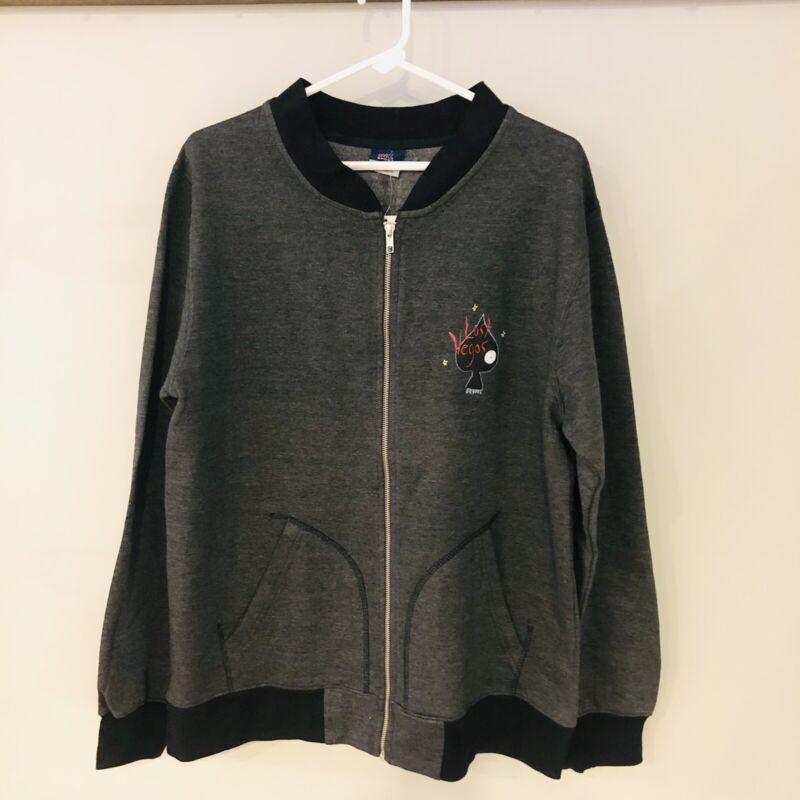 Tim Burton Lost Vegas Neon Museum Varsity Jacket Zip Sweatshirt NWT Size XL