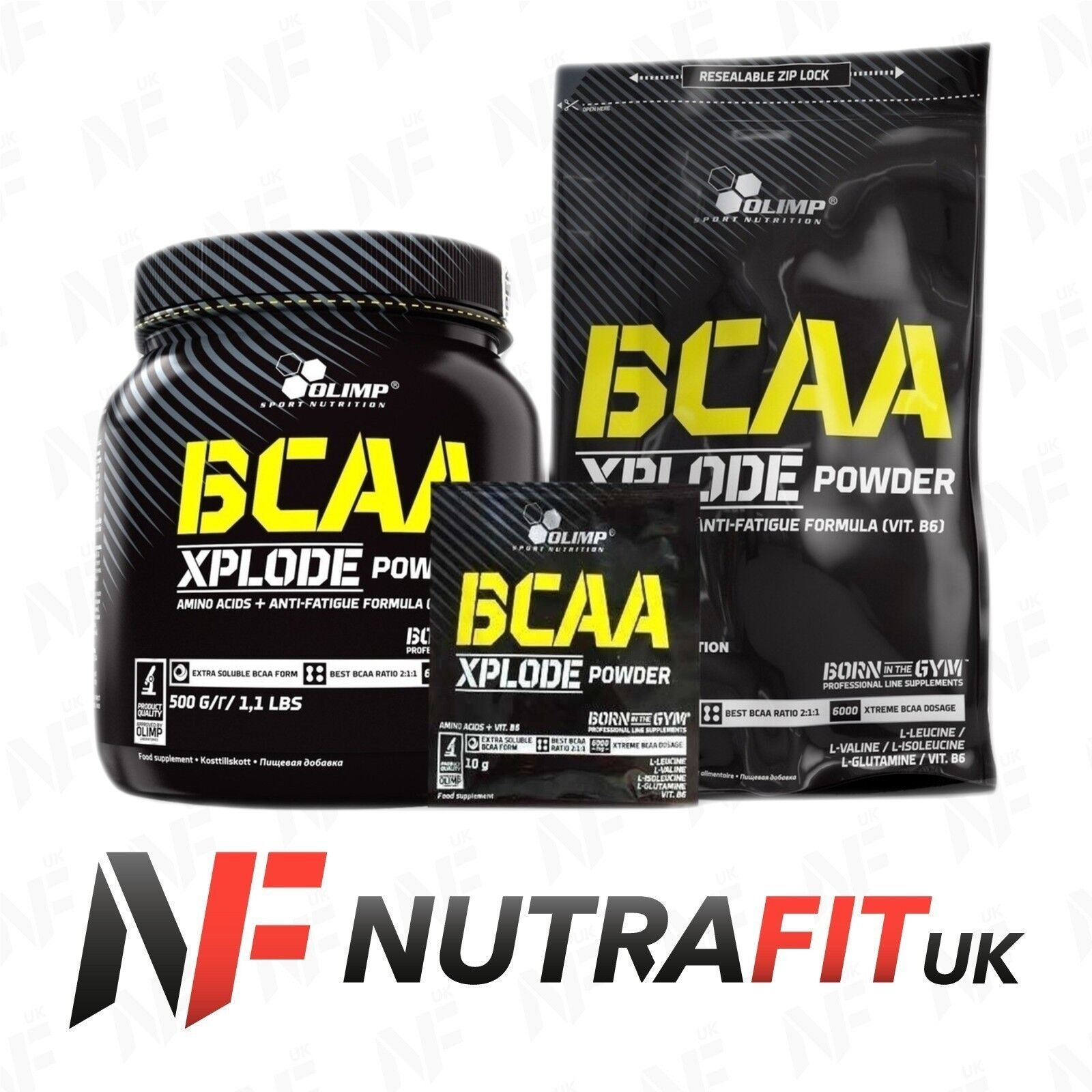 OLIMP BCAA XPLODE POWDER branched chain amino acids glutamine vitamin B6