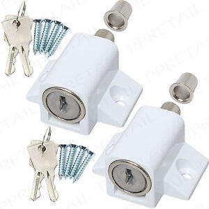 2x FRENCH DOORS LOCK CATCHES HEAVY DUTY METAL SECURITY ...
