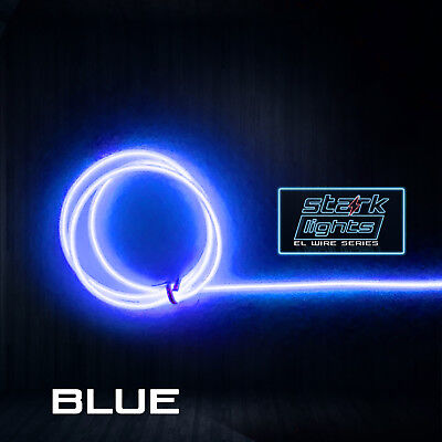 Blue Led Tube (Neon LED Light Glow EL Wire + Control String Strip Rope Tube 5.0mm Thick -)