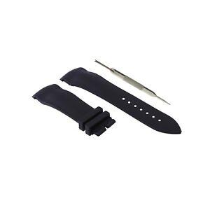 22mm Black Rubber Watch Strap Comp. Franck Muller Casablanca  + Tool