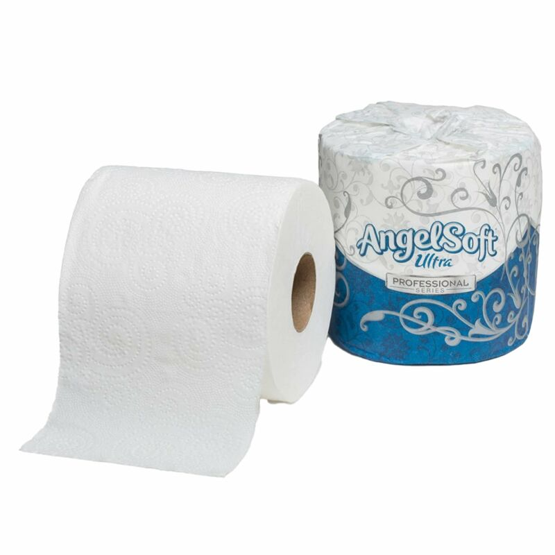 Angel Soft Ultra Professional 2-Ply Toilet Tissue Paper Rolls 80 Rolls 16880