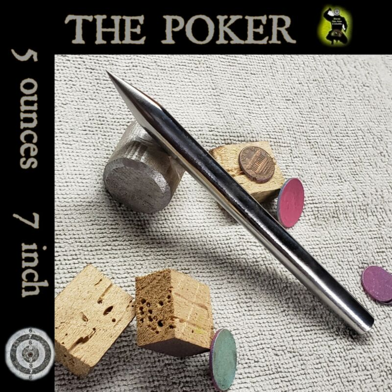 """""""THE POKER"""" STEEL SPEAR TIP ICE PICK SELF DEFENSE SPIKE - 5 ounces/7 inches"""