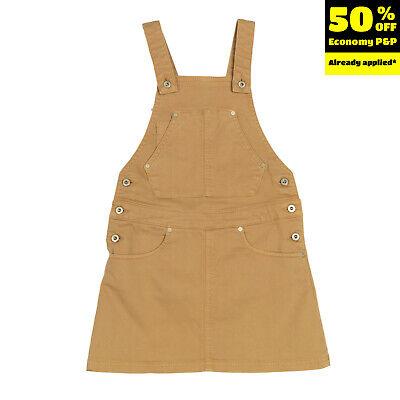 DONDUP DQUEEN Dungaree Skirt Size 8Y Garment Dye Logo Adjustable Suspenders