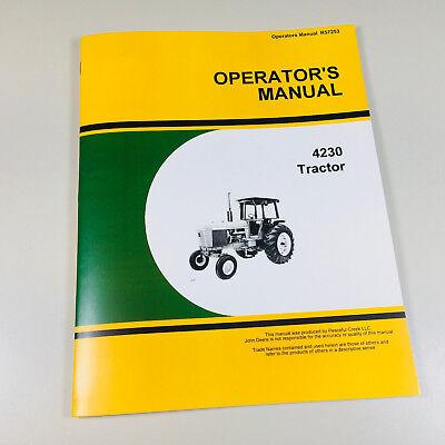 Owner Operators Manual For John Deere 4230 Tractor