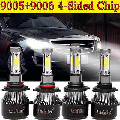 9005+9006 CREE LED Headlight Bulbs Kit For Honda Accord Coupe Sedan 1995-2007 1995 Xenon Headlight Bulbs