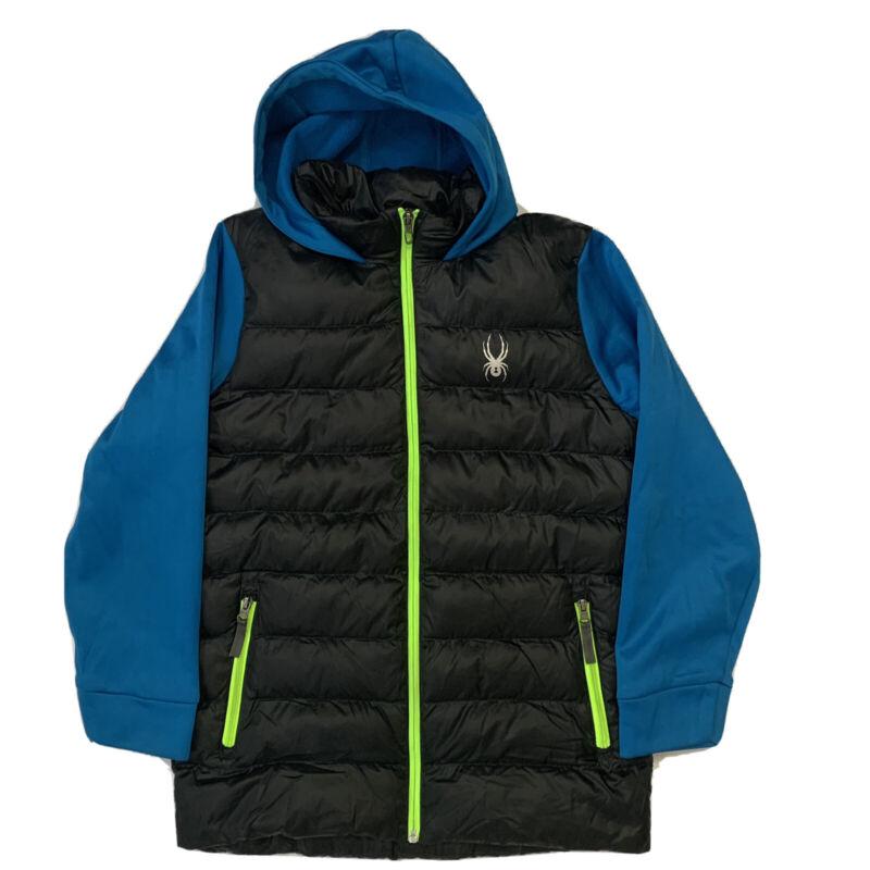 Spyder Boys Mt. Elbert Synthetic Down Jacket Black Electric Blue Rage Size XL