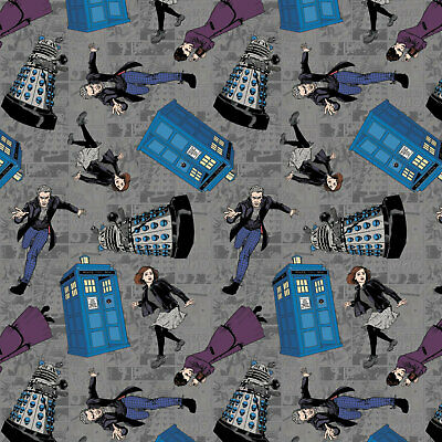 Doctor Who - Character Toss - Fabric Material