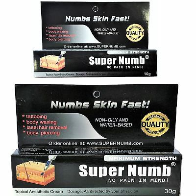SUPER NUMB Numbing Cream Anesthetic Tattoo Piercings Waxing Laser (Numbing Cream Waxing)