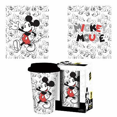 Mickey Mouse - Faces - Keramik Tasse mit Deckel - Größe Ø9,8 H14,5cm (Tasse Mit Deckel)