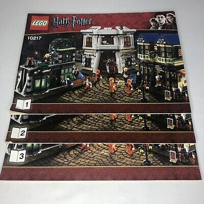 Lego Harry Potter Diagon Alley 10217 Instruction Manual Booklets Only (3 books)