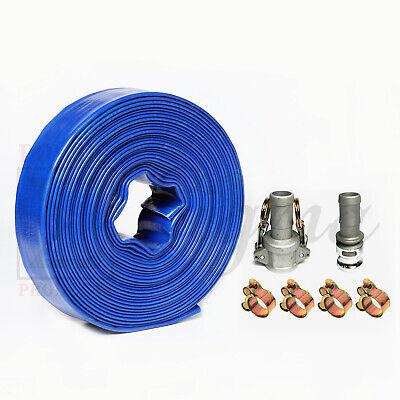 Sigma 1-12 1.5 Inch X 50 Ft Feet Pvc Lay Flat Pump Discharge Hose Camlocks