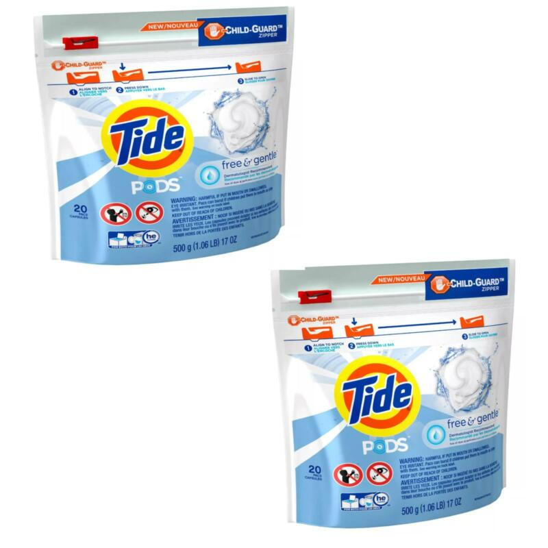 Tide Free and Gentle Unscented Laundry Detergent Pods 40ct