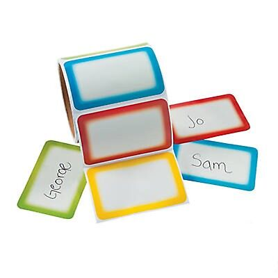 Colorful Name Tags Stickers Self Adhesive Name Tags Labels Party Office School  (School Name Tags)