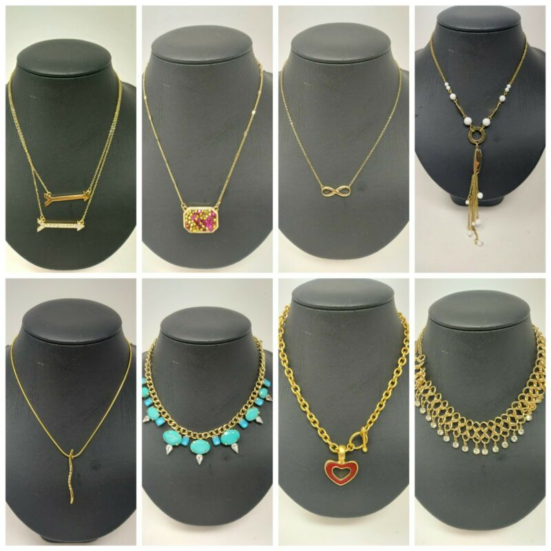 Wholesale Lot of 8 Vintage style Gold Toned Necklaces Jewelry Stephan & Co.