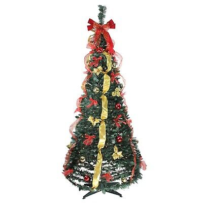 Thomas Kinkade 6ft Pre-Lit Fully Decorated Pull-Up Christmas Tree