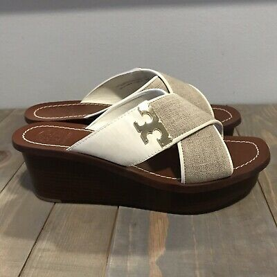 Authentic Culver Wedge Slide Tory Burch (Sold Out Online) Size 7 M