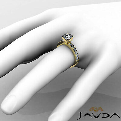 Shared Prong Round Natural Diamond Engagement Ring GIA Certified H SI1 1.47 Ct 9