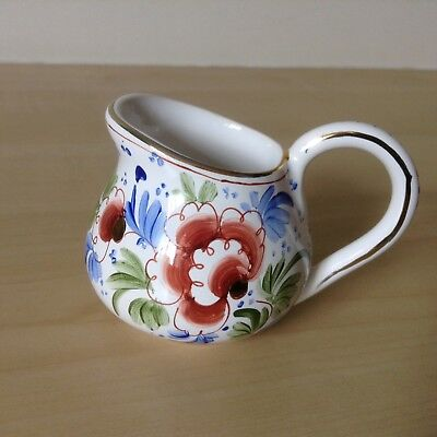 French Art Pottery (Rare Hand Painted Small Jug by Roger Colas Faiencerie French Art Pottery Clamecy)
