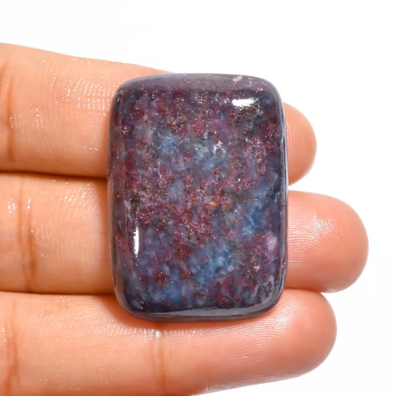 AAA 100% Natural Ruby Kyanite Radiant Cabochon Loose Gemstone 67.5 Ct 32X23X7 mm