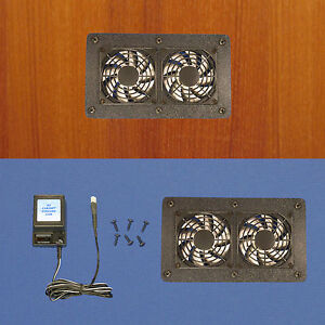 Enclosed-AV-Cabinet-Cooling-fan-system-multi-speed-fan-control