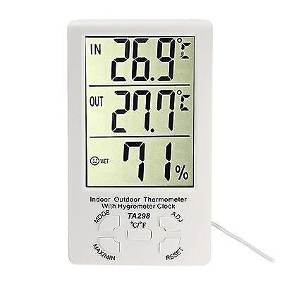Estacion Termometro Higrometro + Sonda Temperatura Exterior Interior Reloj 4200