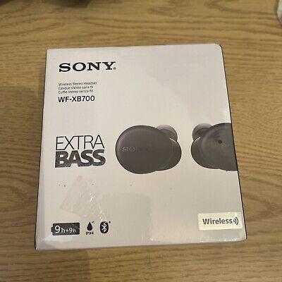 SONY WF-XB700 Wireless Bluetooth Earbuds - Black SEALED