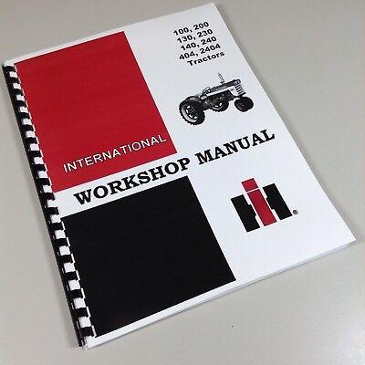240 Ih International Harvester Tractor Technical Service Shop Repair Manual
