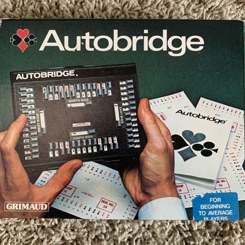 Vintage 1970's Grimaud Autobridge The Original Self Teaching Bridge Game Mint