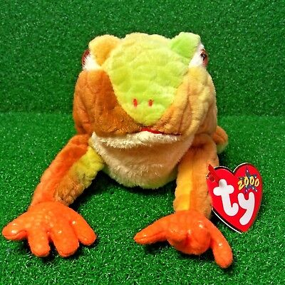 a35f732858e Ty Beanie Baby 2000 Prince The Frog Rare Retired Plush Toy MWMT - Ships FREE