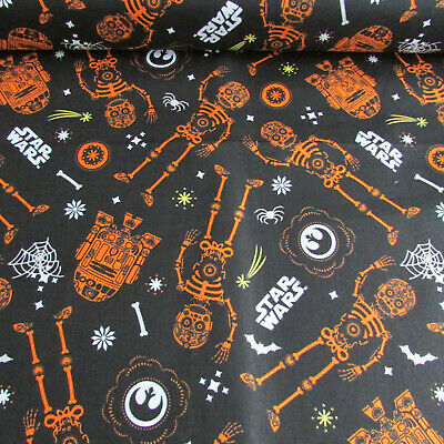 Star Wars - Skeletons - Halloween glow in the dark cotton fabric