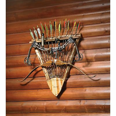 Rush Creek Log Bow and Arrow Wall Rack