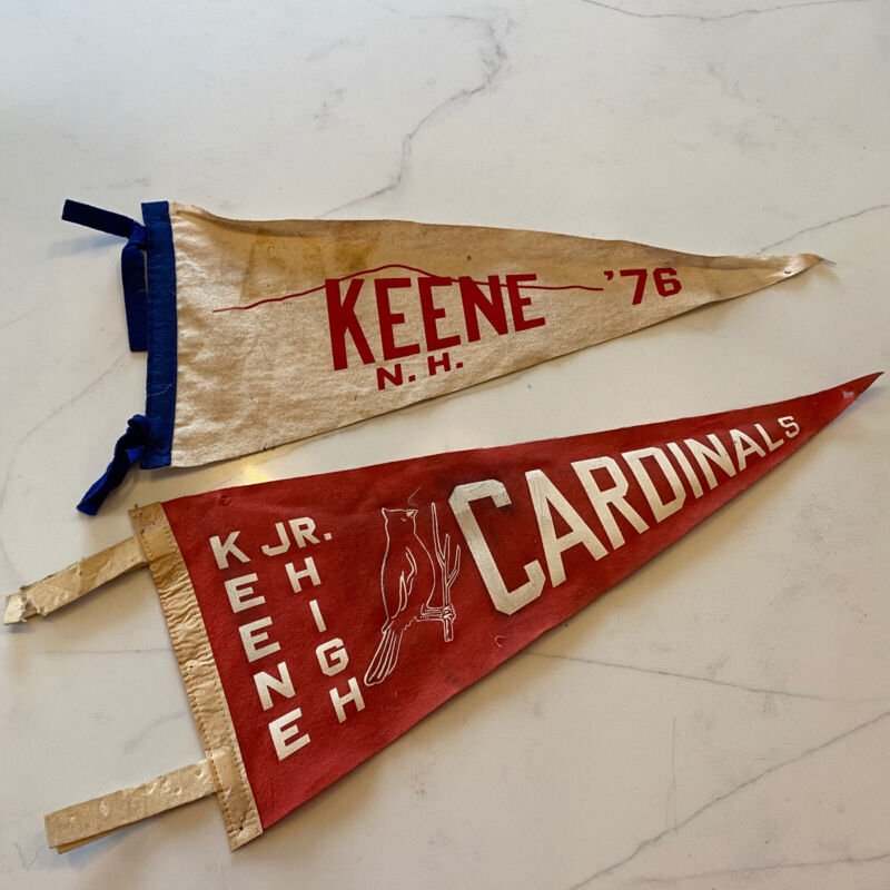 Vintage Pennants Keene New Hampshire Cardinals Jr. High 1976