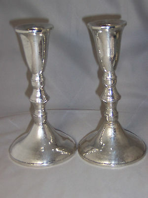 VINTAGE DUCHIN STERLING SILVER CANDLESTICKS - 6 3/8 INCHES HIGH