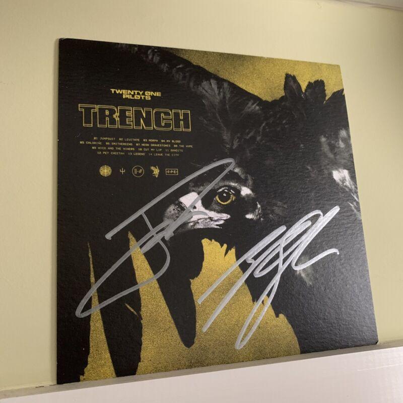 Twenty One Pilots Signed Trench Art Card Tyler Joseph Josh Dun RARE
