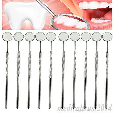 10 Mirror 10 Handle Size 4 Stainless Steel Dental Oral Hygeine Mouth Mirror