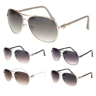 Womens Luxury Chic Designer Officer Style Pilots (Luxury Designer Sunglasses)